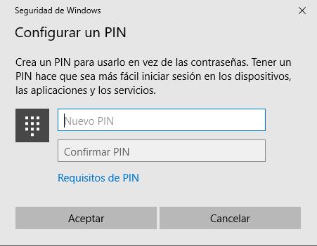 Cómo agregar un PIN