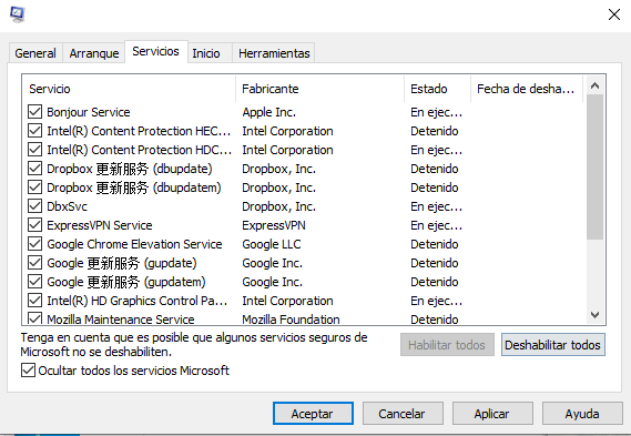 Inicio Limpio para diagnosticar problemas en Windows