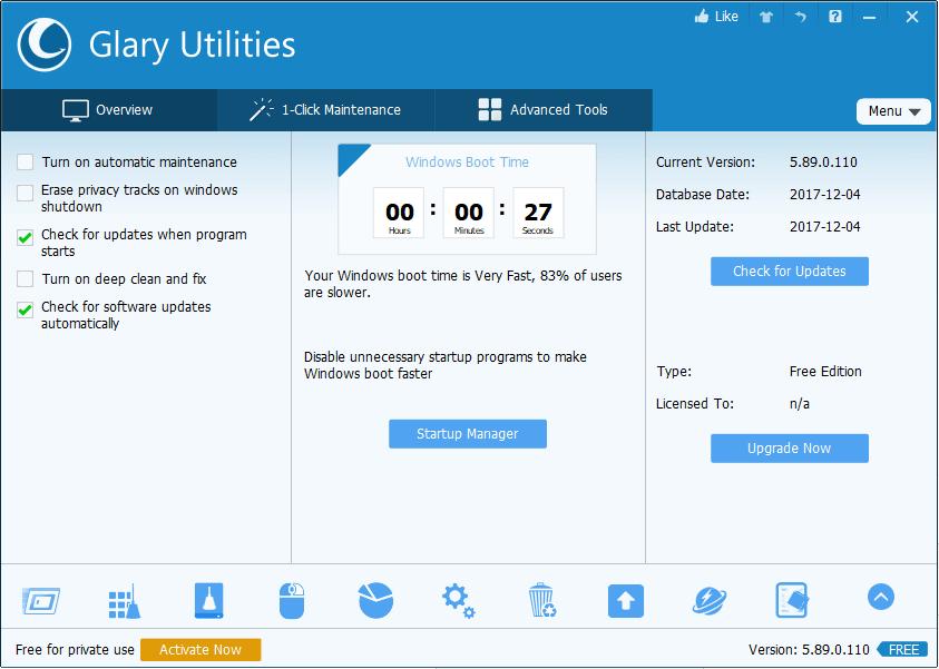 Glary Utilities Free