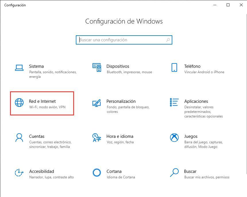 Configurar VPN en Windows 10