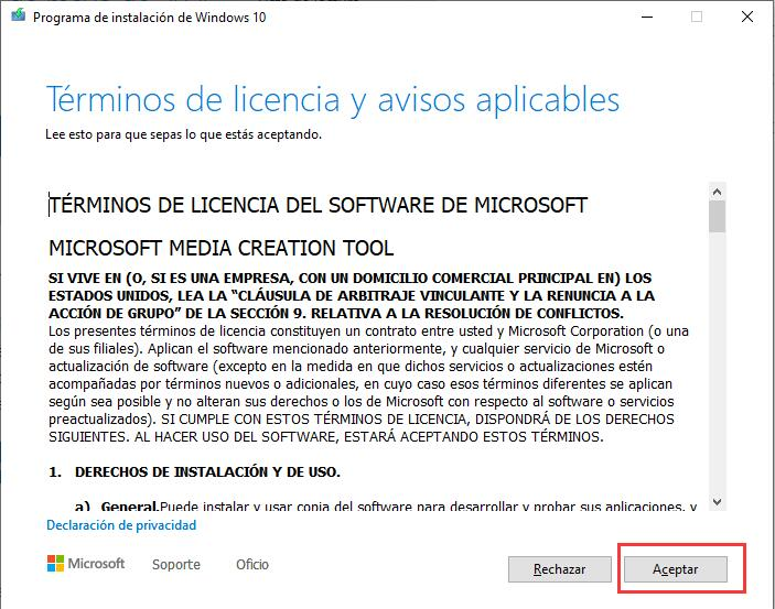 Descargar ISO Windows 10 Pro / Home